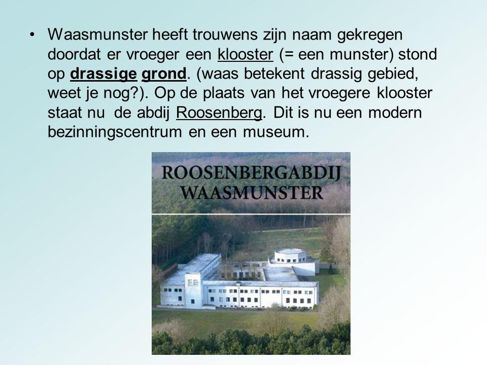 Waasmunster heeft trouwens zijn naam gekregen doordat er vroeger een klooster (= een munster) stond op drassige grond.