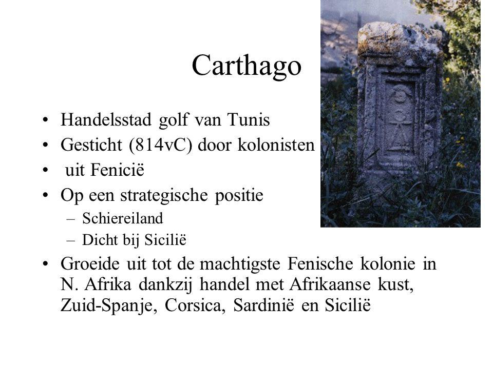 Carthago Handelsstad golf van Tunis Gesticht (814vC) door kolonisten