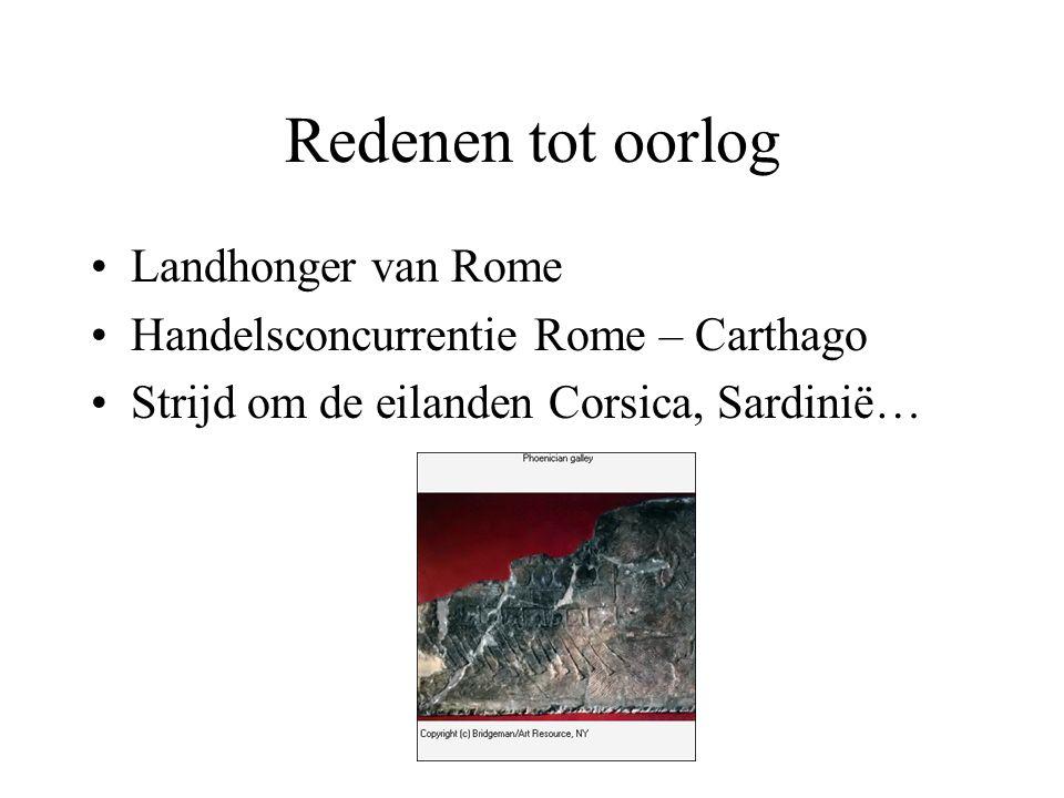 Redenen tot oorlog Landhonger van Rome