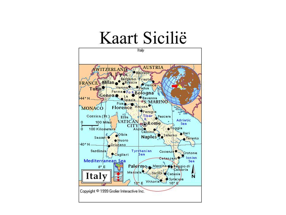 Kaart Sicilië
