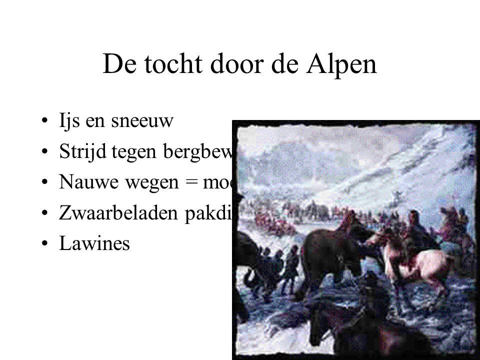 De tocht door de Alpen Ijs en sneeuw Strijd tegen bergbewoners