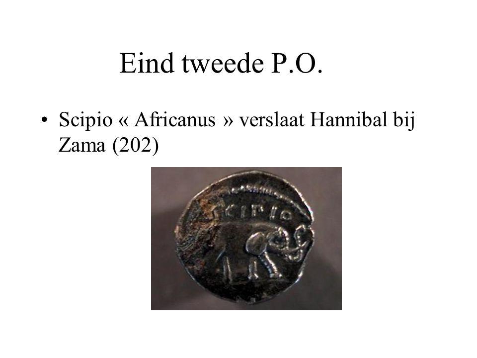 Eind tweede P.O. Scipio « Africanus » verslaat Hannibal bij Zama (202)