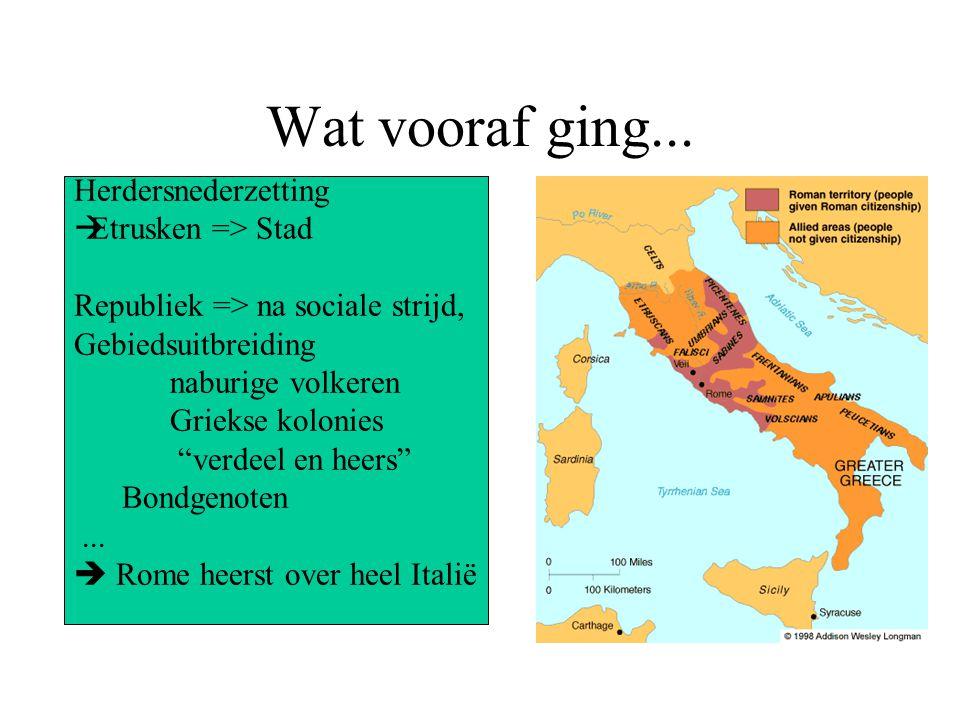 Wat vooraf ging... Herdersnederzetting Etrusken => Stad