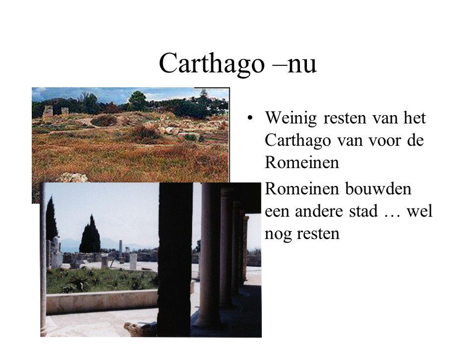Carthago –nu Weinig resten van het Carthago van voor de Romeinen