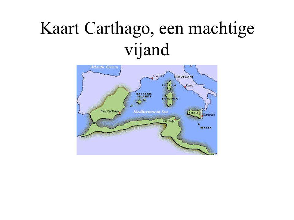 Kaart Carthago, een machtige vijand