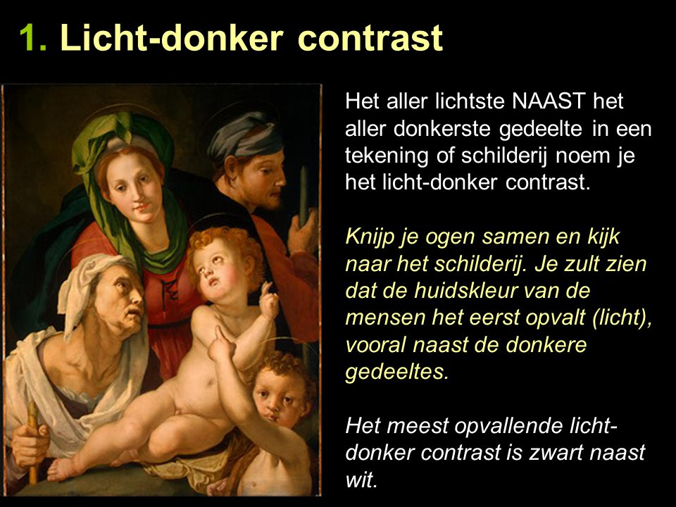 1. Licht-donker contrast