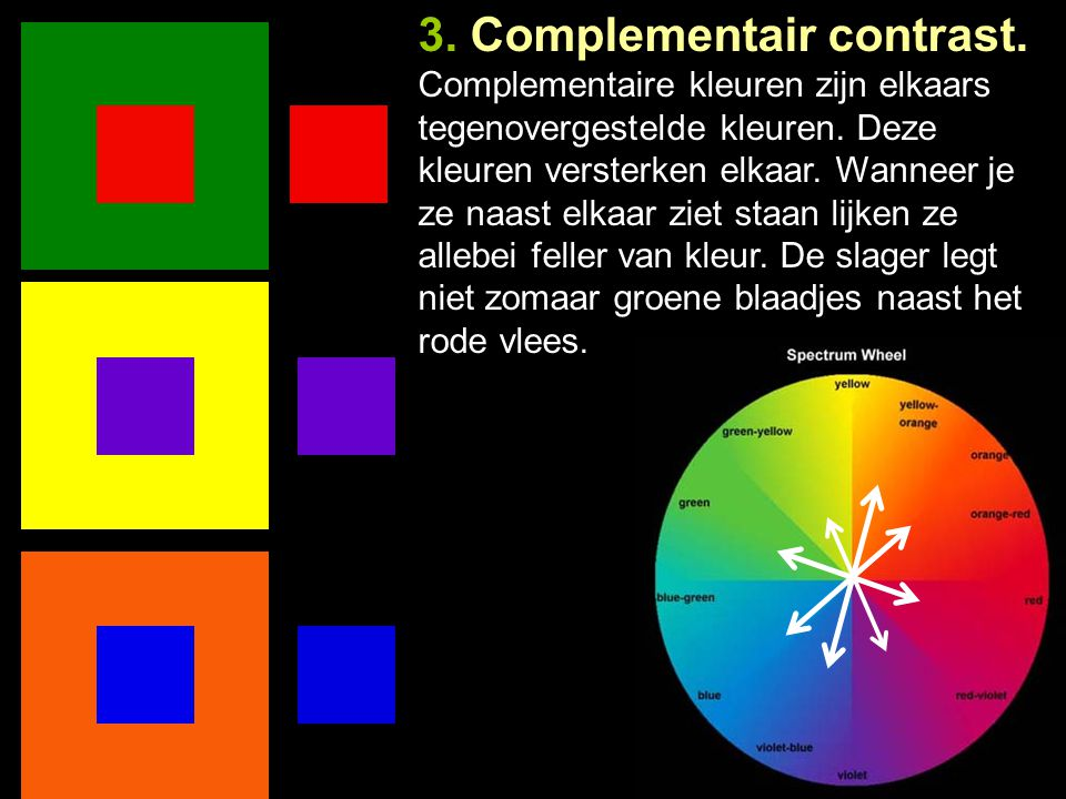 3. Complementair contrast