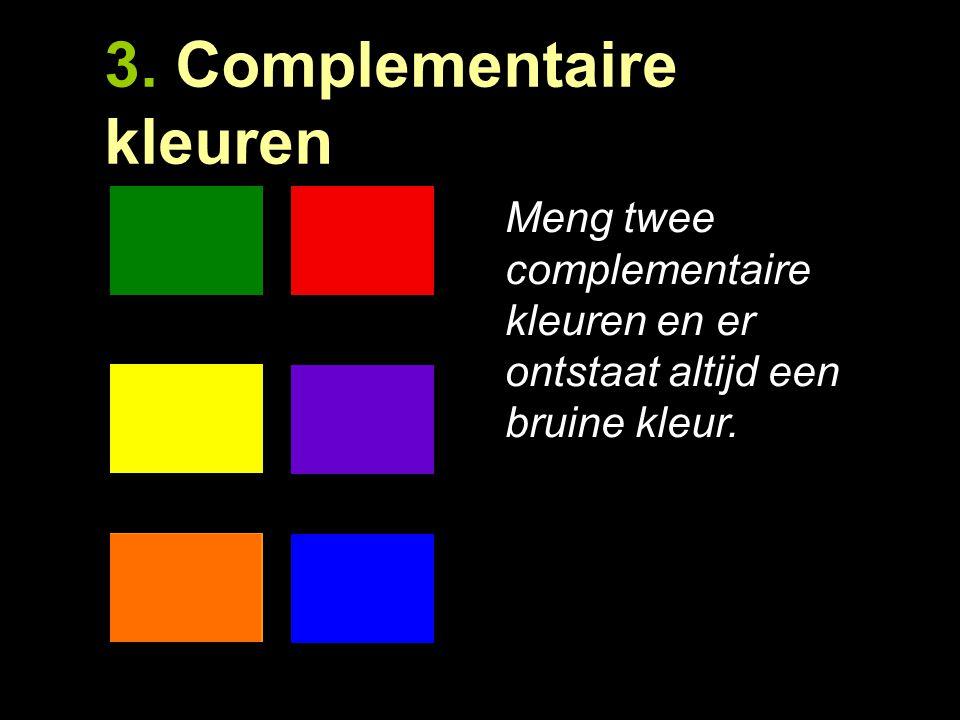 3. Complementaire kleuren