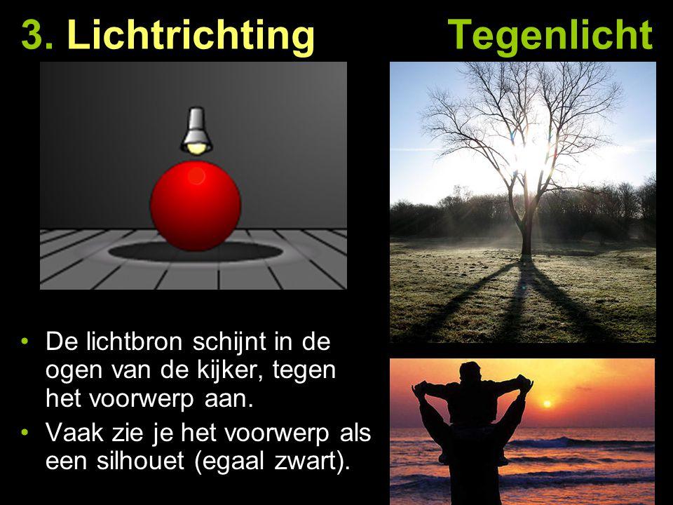 3. Lichtrichting Tegenlicht