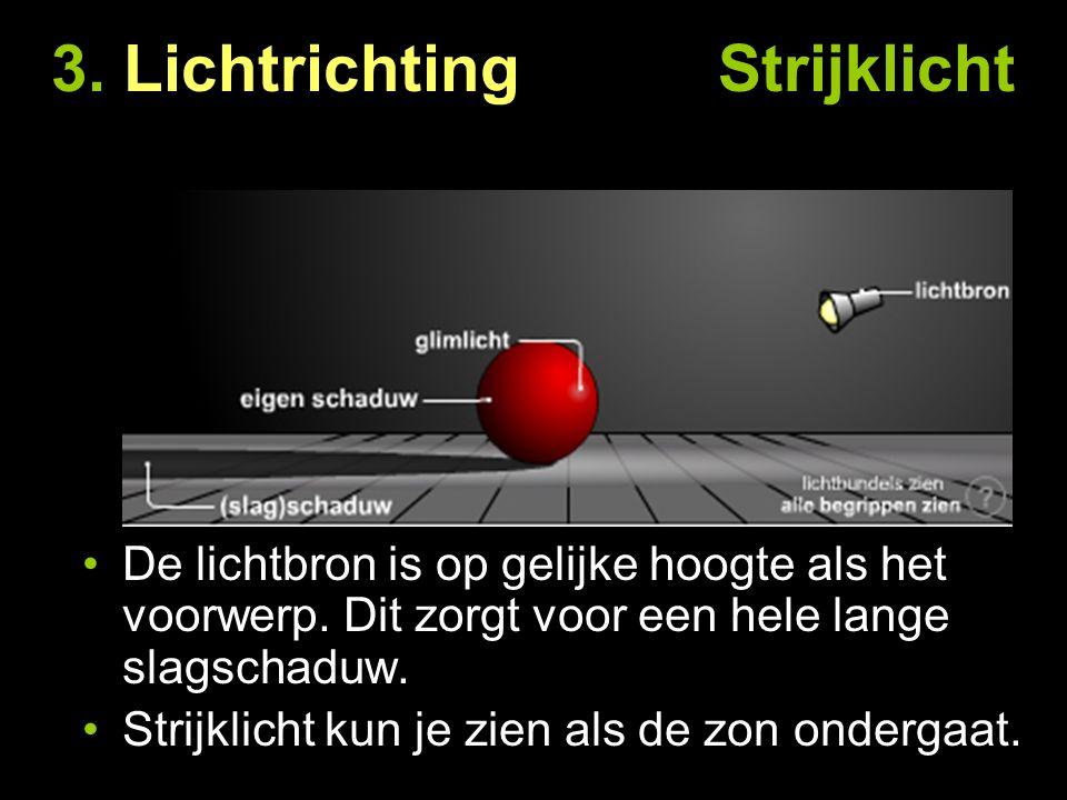 3. Lichtrichting Strijklicht