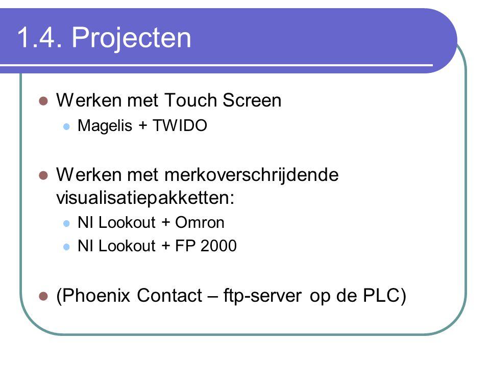 1.4. Projecten Werken met Touch Screen