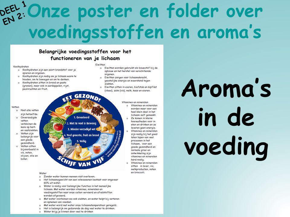 Onze poster en folder over voedingsstoffen en aroma's