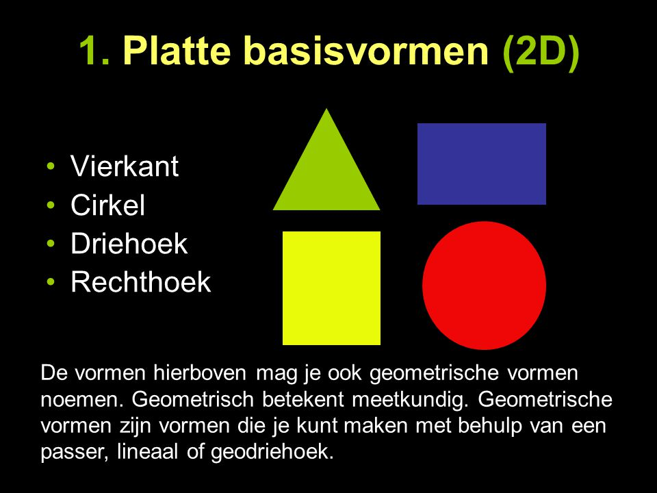 1. Platte basisvormen (2D)