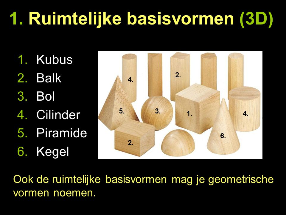 1. Ruimtelijke basisvormen (3D)