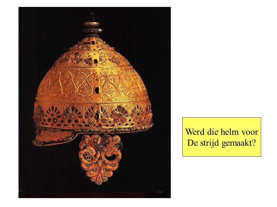 Werd die helm voor De strijd gemaakt Prunkhelm von Agris