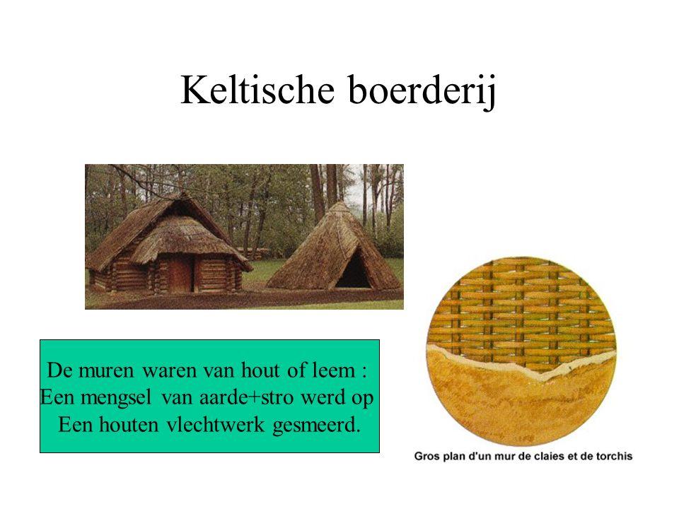 Keltische boerderij De muren waren van hout of leem :