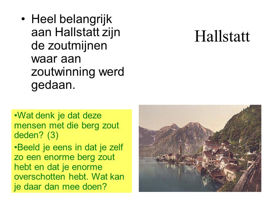 Heel belangrijk aan Hallstatt zijn de zoutmijnen waar aan zoutwinning werd gedaan.