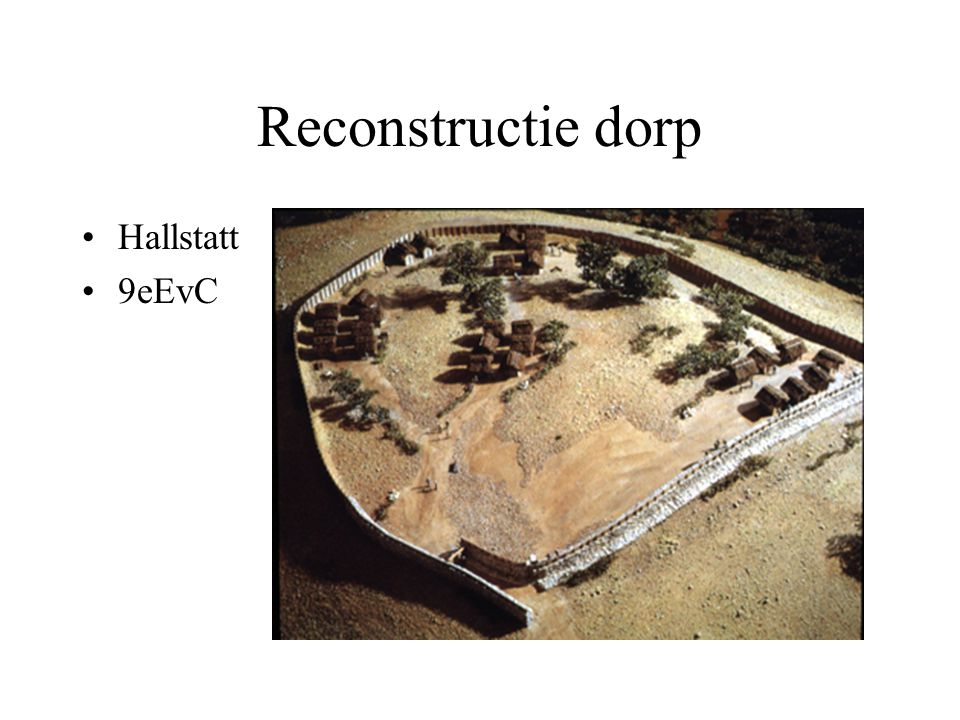 Reconstructie dorp Hallstatt 9eEvC