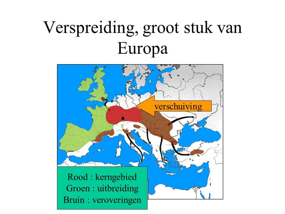Verspreiding, groot stuk van Europa