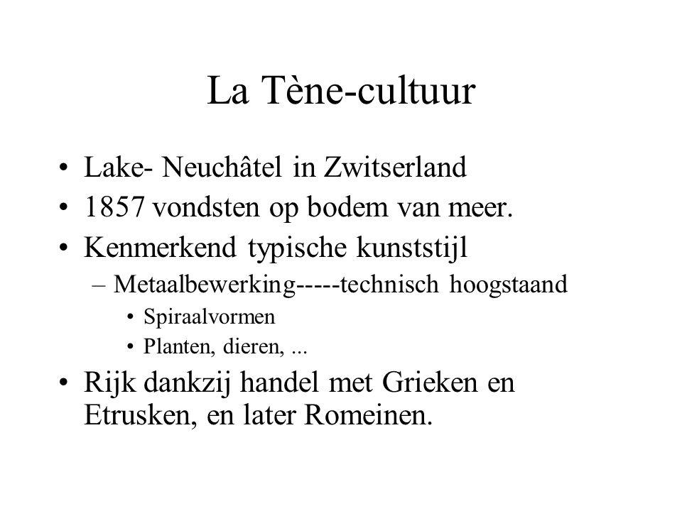 La Tène-cultuur Lake- Neuchâtel in Zwitserland