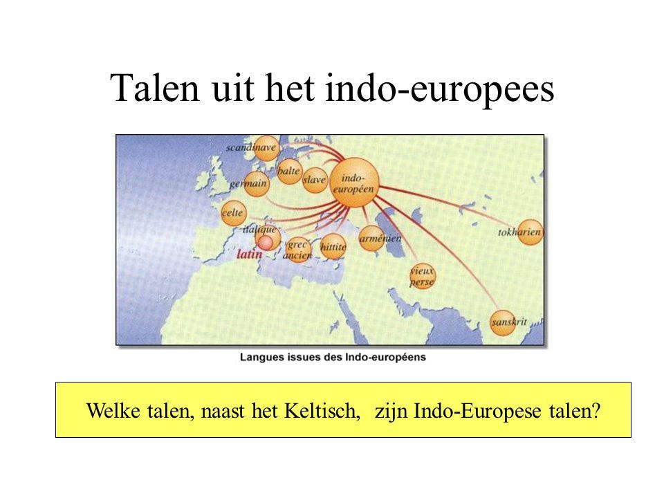 Talen uit het indo-europees