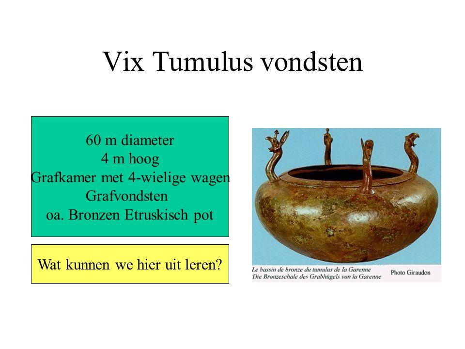 Vix Tumulus vondsten 60 m diameter 4 m hoog