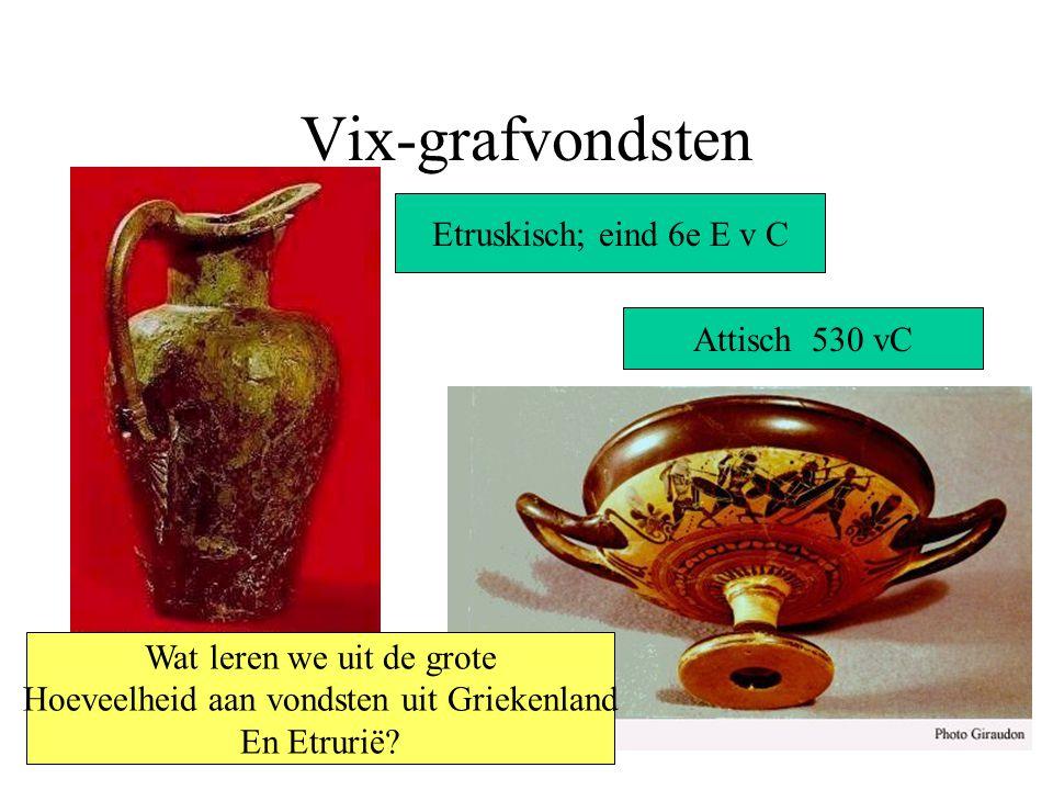 Vix-grafvondsten Etruskisch; eind 6e E v C Attisch 530 vC