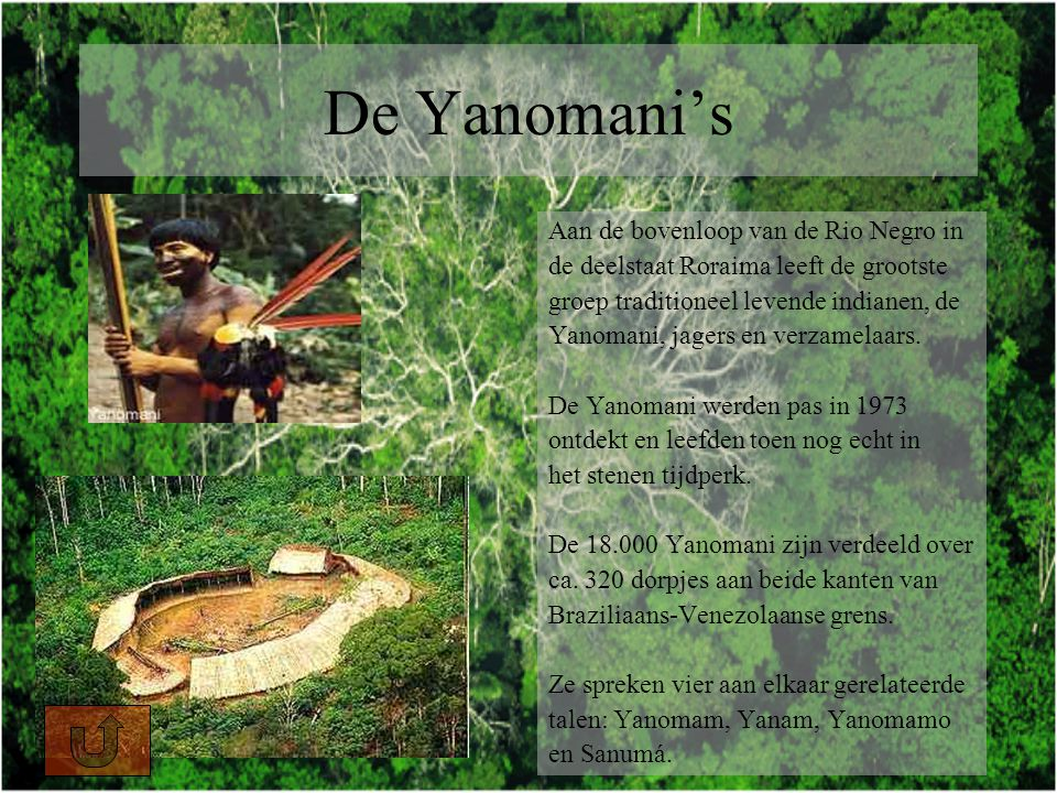 De Yanomani's Aan de bovenloop van de Rio Negro in
