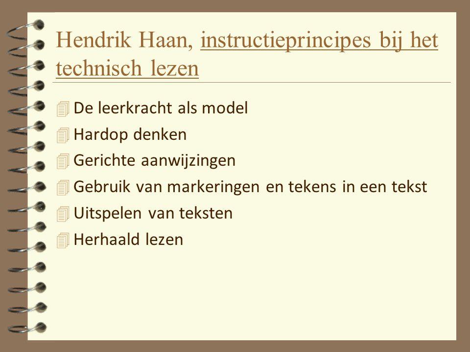Hendrik Haan, instructieprincipes bij het technisch lezen