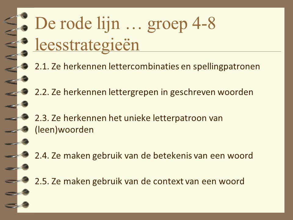 De rode lijn … groep 4-8 leesstrategieën