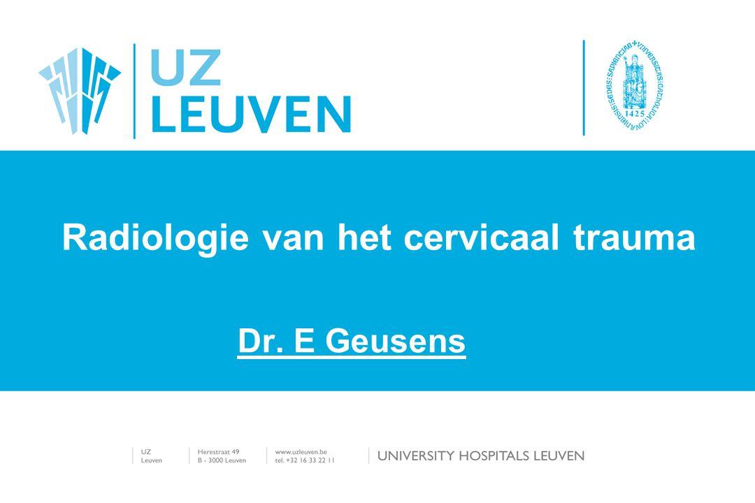 Radiologie van het cervicaal trauma