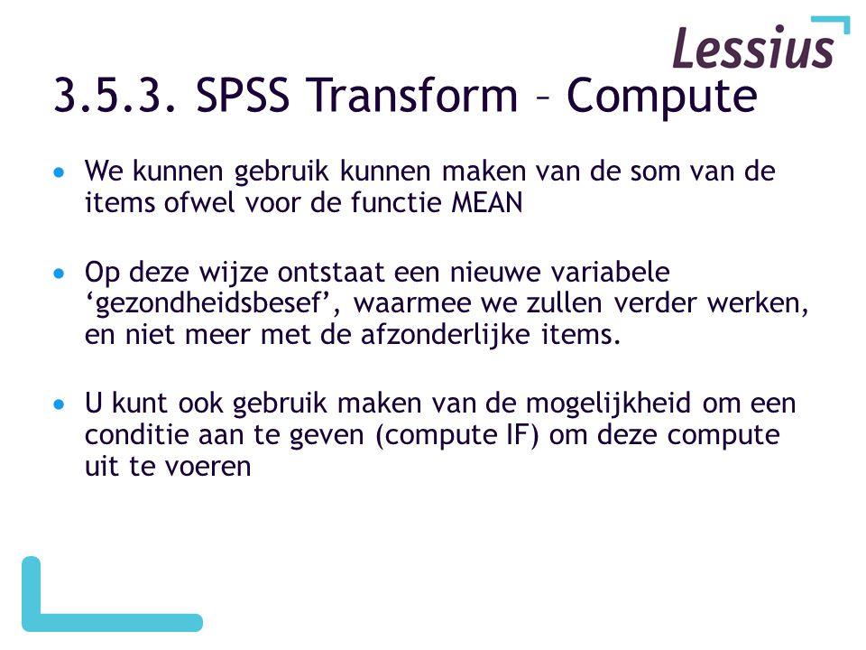 3.5.3. SPSS Transform – Compute