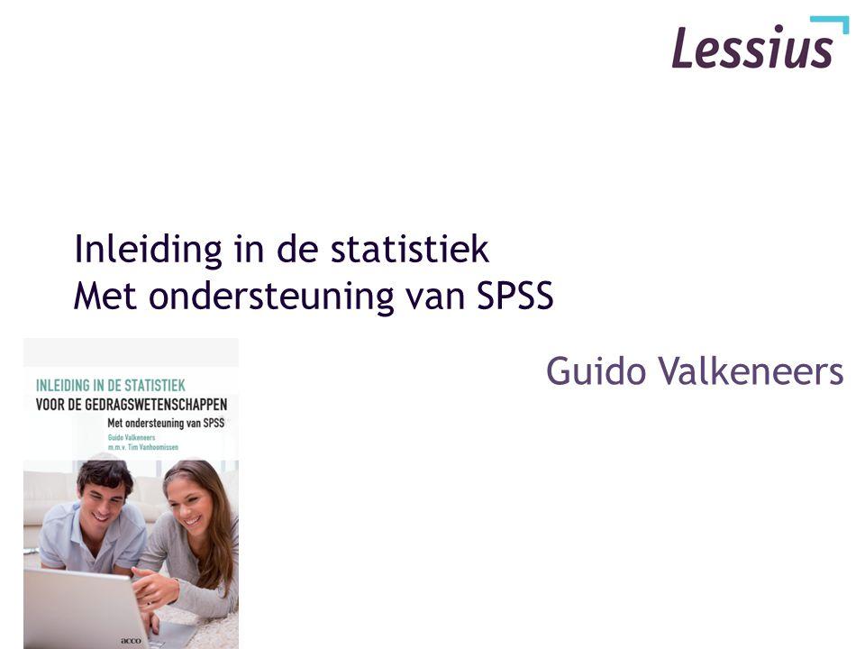 Inleiding in de statistiek Met ondersteuning van SPSS