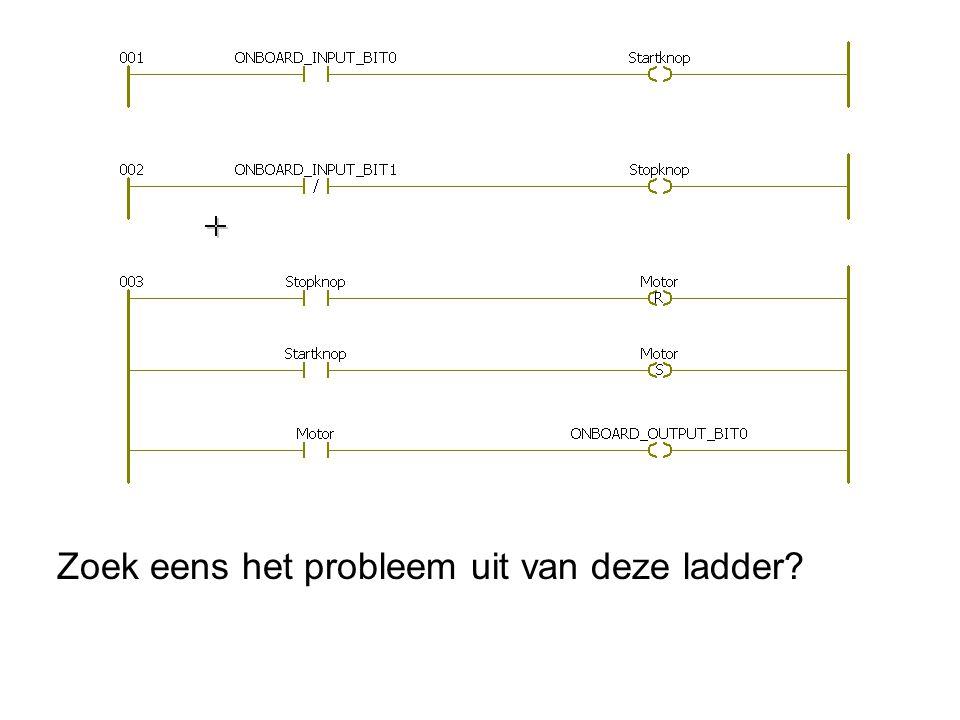 Zoek eens het probleem uit van deze ladder
