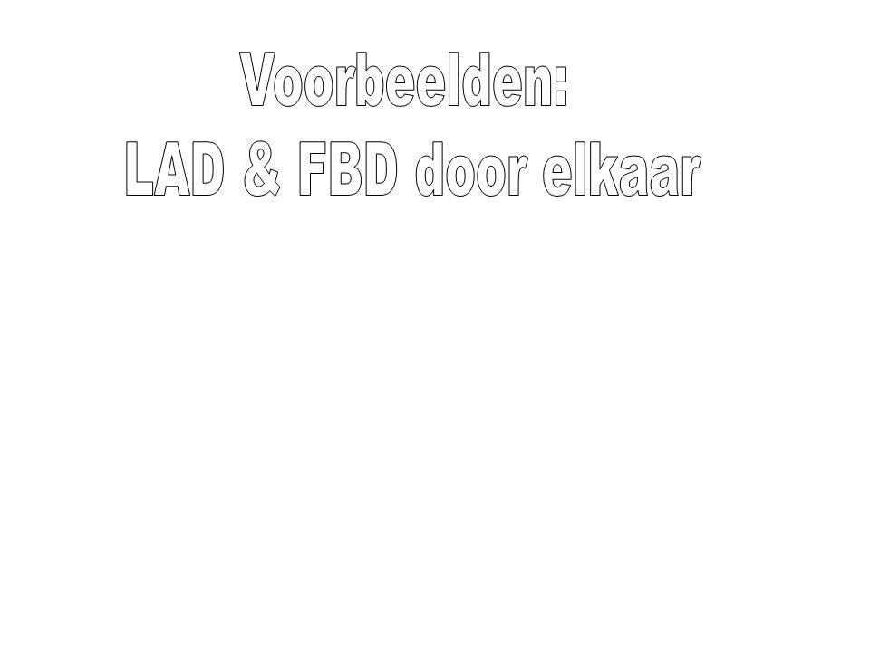 Voorbeelden: LAD & FBD door elkaar