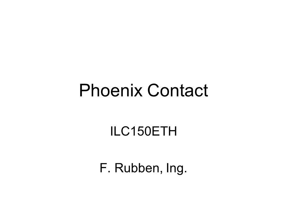 Phoenix Contact ILC150ETH F. Rubben, Ing.