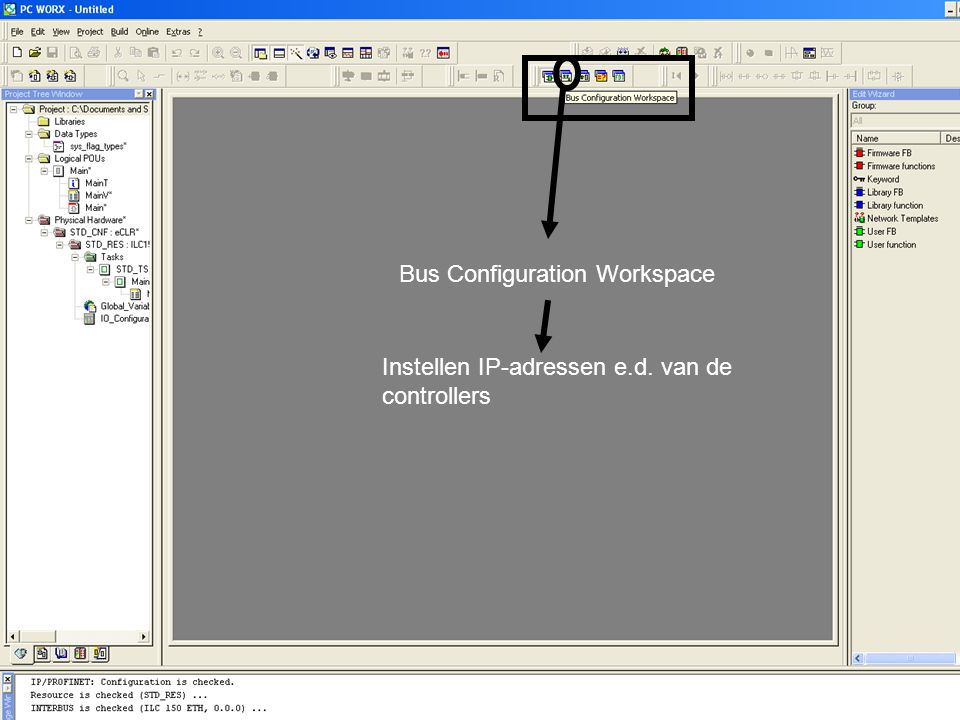 Bus Configuration Workspace