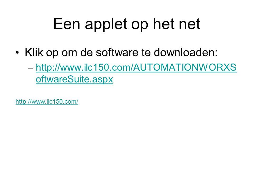 Een applet op het net Klik op om de software te downloaden: