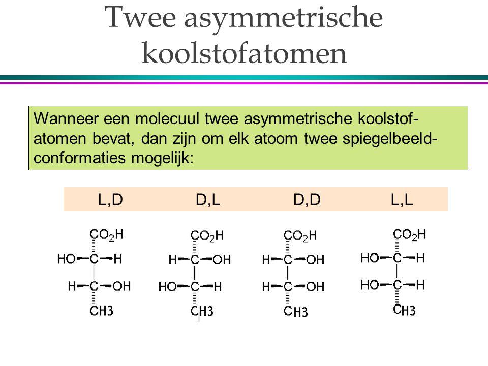 Twee asymmetrische koolstofatomen