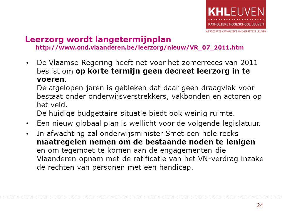 Leerzorg wordt langetermijnplan http://www. ond. vlaanderen
