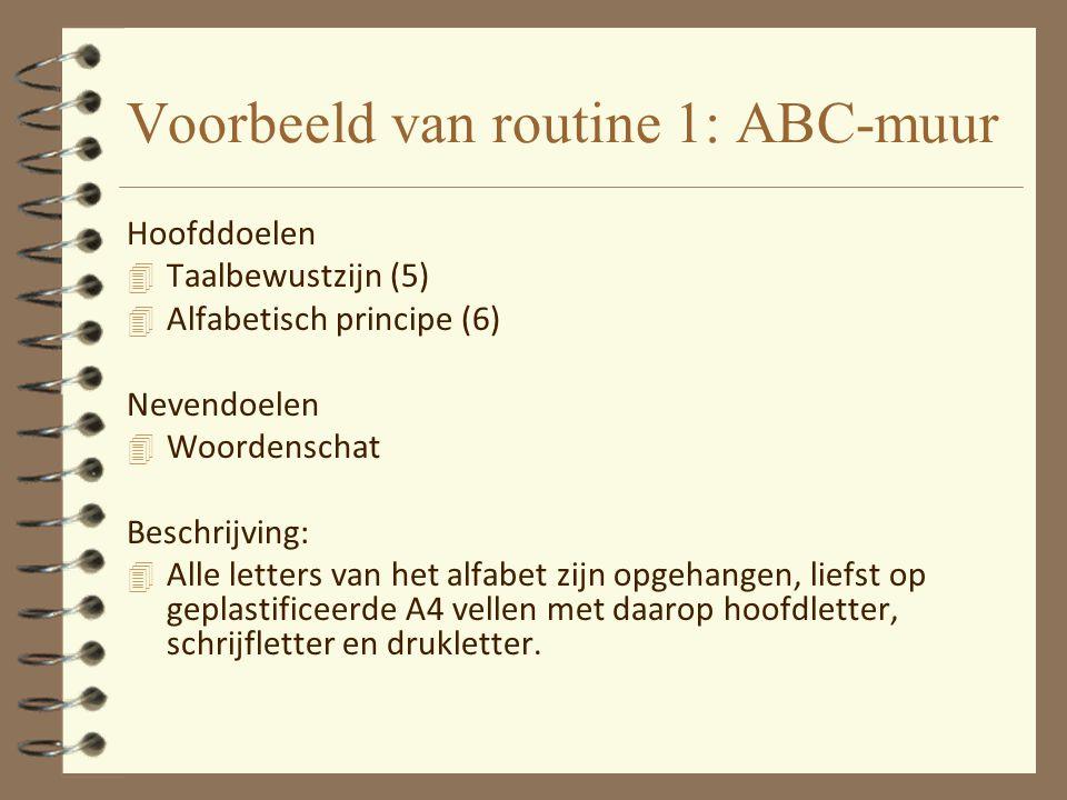 Voorbeeld van routine 1: ABC-muur