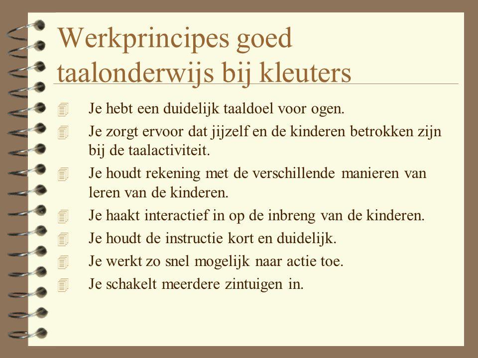 Werkprincipes goed taalonderwijs bij kleuters