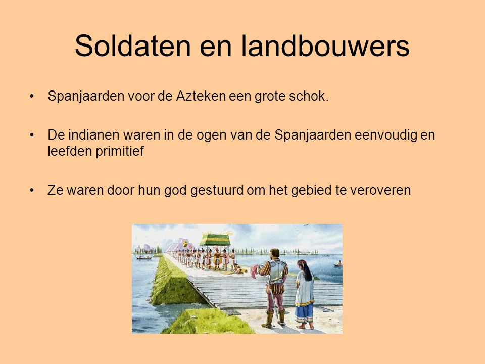 Soldaten en landbouwers