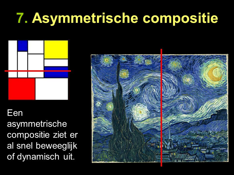 7. Asymmetrische compositie