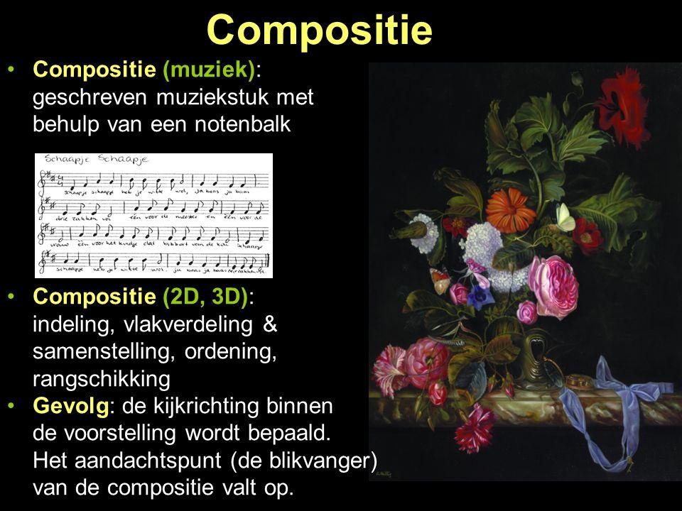 Compositie Compositie (muziek): geschreven muziekstuk met