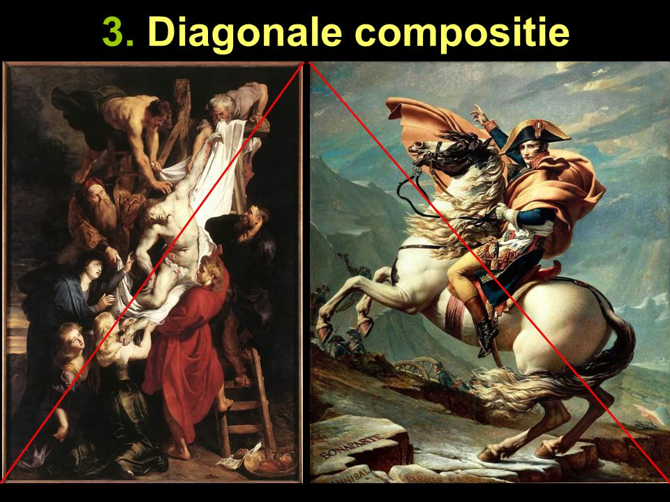 3. Diagonale compositie