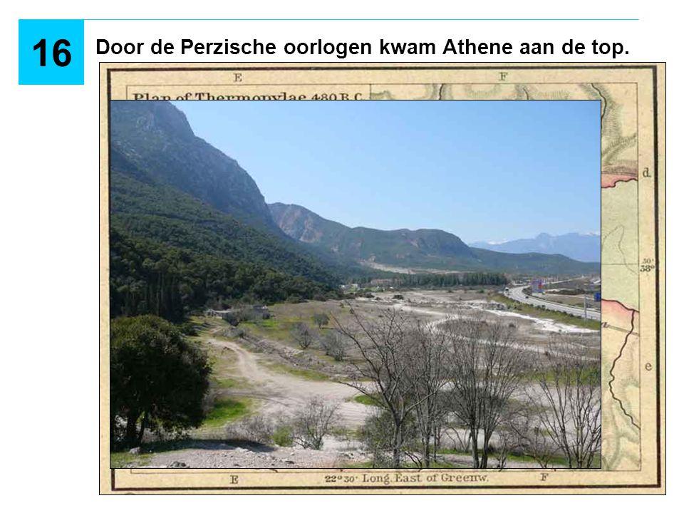 Door de Perzische oorlogen kwam Athene aan de top.