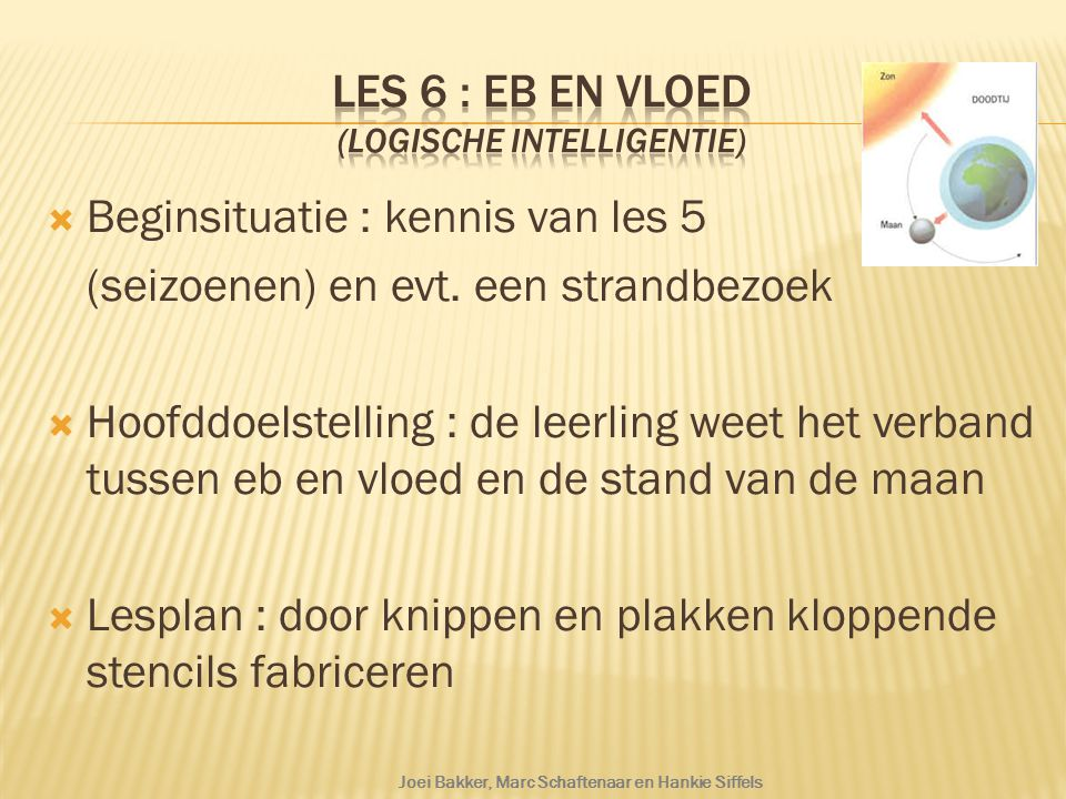 Les 6 : Eb en vloed (logische intelligentie)