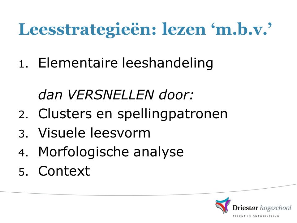 Leesstrategieën: lezen 'm.b.v.'