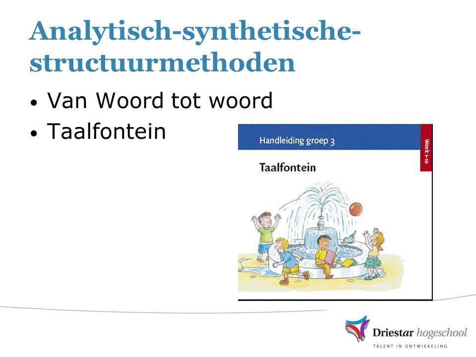 Analytisch-synthetische-structuurmethoden